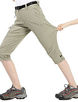 cheap -women's quick dry outdoor capri pants stretch hiking cargo pants with 4 pockets, water resistant and lightweight, rock grey, 4
