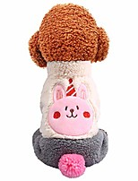 cheap -gornorriss new lamb velvet birthday four-legged coat autumn and winter cat dog clothing, turtleneck dog clothes outfits pet jumpsuits cat sweaters