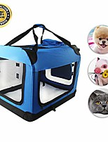 cheap -pet carrier airline approved, soft sided portable crate travel bags for dogs collapsible puppy carrier with removable fleece pad and pockets blue (blue)