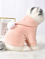 cheap -Dog Cat Coat Hoodie Solid Colored Casual / Sporty Fashion Casual / Daily Winter Dog Clothes Breathable Pink Green Costume Cotton S M L XL XXL