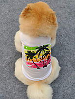 cheap -Dog T-shirts Party Casual / Daily Dog Clothes White Costume Cotton S M L XL