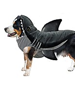 cheap -shark wannabe dog coat, medium