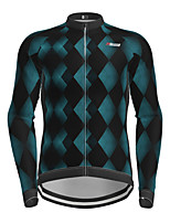 cheap -21Grams Men's Long Sleeve Cycling Jersey Black Bike Jersey Top Mountain Bike MTB Road Bike Cycling Quick Dry Sports Clothing Apparel / Micro-elastic