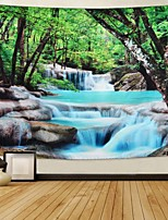 cheap -Wall Tapestry Art Decor Blanket Curtain Picnic Tablecloth Hanging Home Bedroom Living Room Dorm Decoration Polyester Forest Tree River Stone View