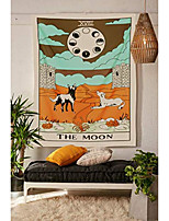 "cheap -tarot tapestry, the moon wall hanging tapestries medieval europe divination tapestry, hippie boho wall décor for dorm bedroom living room 59""x 51"" – moon"