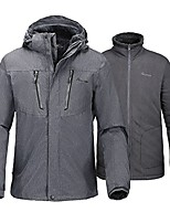 cheap -men's 3-in-1 ski jacket - winter jacket set with fleece liner jacket & hooded waterproof shell - for men (graphite,l)
