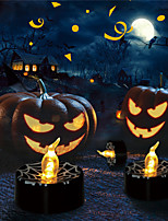 cheap -Halloween Party Toys LED Lighting Electronic Candle Light 12 pcs Ghost Pumpkin Spiders Twinkling Plastic Kid's Adults Trick or Treat Halloween Party Favors Supplies
