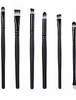 cheap -6pcs cosmetic makeup brush lip makeup brush eyeshadow brush (white)