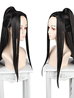 cheap -Cosplay Cosplay Cosplay Wigs Women's Neat Bang 80 inch Heat Resistant Fiber Matte Black Adults' Anime Wig