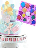 cheap -Birthday Balloons Fondant Cake Silicone Molds Cupcake Baking Mould Baby Birthday Cake Decorating Tools Chocolate Gumpaste Mold