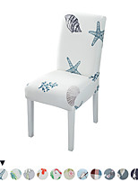 cheap -1PC Floral Print Chair Cover Dining Elastic Chair Covers Spandex Stretch Elastic Europe Style Anti-dirty Removable