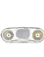 cheap -[al16-tk] bike headlight 400 lumens for side dynamo and hub 6v 2.4-3w one year guaranty