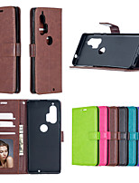 cheap -Case For Motorola E4 PLAY E3 G4 PLUS G4 PLAY G5 PLUS PLAY G7 POWER P30 PLAY ONE VISION P40 ONE ACTION ZOOM HYPER E6 PLAY G8 Card Holder Shockproof  Flip Full Body Cases Solid Colored PU Leather TPU