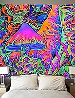 cheap -psychedelic arabesque tapestry trippy smoke mushrooms wall tapestry hippie tapestry abstract tapestry wall hanging home decor & #40;59x51 inches& #41;