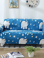 cheap -Stretch Slipcover Sofa Cover Couch Cover Polar Bear Printed Sofa Cover Stretch Couch Cover Sofa Slipcovers for 1~4 Cushion Couch with One Free Pillow Case
