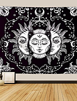cheap -Tarot Divination Wall Tapestry Art Decor Blanket Curtain Picnic Tablecloth Hanging Home Bedroom Living Room Dorm Decoration Mysterious Bohemian Moon Sun Star Black White