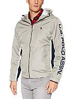 cheap -men's tri color windbreaker jacket, vapor gray, xl