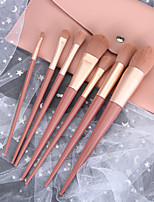 cheap -7 Pcs Pink Makeup Brush Set Lip Brush Loose Powder Brush Blush Brush Eye Shadow Brush Set Brush Cosmetic Bag Beauty Tool