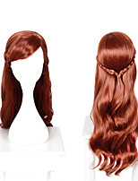 cheap -Cosplay Anna Cosplay Wigs Unisex Side bangs 70 inch Heat Resistant Fiber Matte Brown Adults' Anime Wig