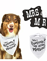cheap -my humans are getting married dog bandana, wedding dog bandana, best dog bandana,wedding photo prop, pet scarf, pet accessories(set of 2)