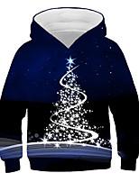cheap -Kids Boys' Active Basic 3D Graphic Christmas Print Long Sleeve Hoodie & Sweatshirt Navy Blue