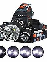 cheap -led camping headlamp flounder light frog gigging equipment ultra bright 3xcree xm-l t6 led focus waterproof headlight with batteries (x2 red)