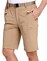 cheap -mens cargo shorts lightweight elastic waist belted pockets quick dry shorts for hiking gof fishing khaki