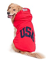 cheap -pet hoodies cotton sweatshirt with soft nap lining for medium and large dogs outdoor sport jerseys navy and red color for choose -red 20
