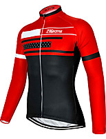 cheap -21Grams Men's Long Sleeve Cycling Jacket Red Blue Green Novelty Bike Jersey Top Mountain Bike MTB Road Bike Cycling UV Resistant Breathable Quick Dry Sports Clothing Apparel / Stretchy