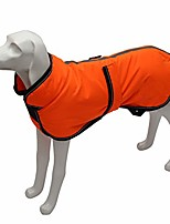 cheap -reflective parka 300d dog coat, waterproof dog jacket for small medium large dogs with harness hole-orange-m