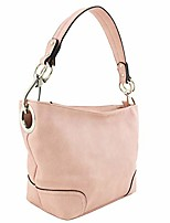 cheap -hobo shoulder bag with snap hook hardware small (pink)