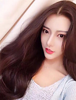cheap -Synthetic Wig Curly Middle Part Wig Very Long Dark Brown Synthetic Hair Women's Fashionable Design Classic Exquisite Dark Brown