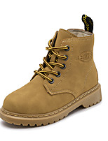 cheap -Boys' / Girls' Boots Combat Boots PU Little Kids(4-7ys) / Big Kids(7years +) Walking Shoes Black / Yellow Fall / Winter / Booties / Ankle Boots