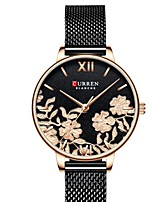cheap -CURREN Women's Quartz Watches Quartz Modern Style Floral Style Elegant Water Resistant / Waterproof Analog Rose Gold Black Silver / One Year / Stainless Steel / Japanese / Shock Resistant / Japanese