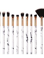 cheap -marble pattern brush eyeshadow brush foundation brush set (10 pcs)