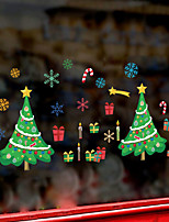 cheap -WallDecals Decor Vinyl DIY Christmas Tree Wall Stickers Removable Waterproof Wallpaper Decals Art Easy Peel & Stick