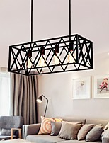 cheap -63cm Nordic Island Light Pendant Light Art Iight Personalized Bar Iighting Industry 4 Iron Cuboid Iron Art Chandelier