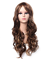 cheap -Synthetic Wig Body Wave With Bangs Wig Very Long Brown Synthetic Hair 30 inch Women's Fashionable Design Party Romantic Brown