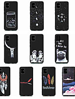 cheap -Case For Samsung Galaxy S20 Ultra S20 PLUS A51 5G Shockproof Frosted Pattern Back Cover Sky Animal Feathers TPU for Galaxy A71 5G A21s A81 Note 20  S10 Lite