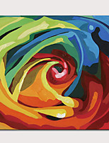 cheap -Oil Painting Hand Painted - Abstract Pop Art Modern Rolled Canvas (No Frame)