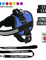 cheap -esa vest harness bundle emotional support animal reflective leash & esa, emotional support patches set, ada ids for travel support therapy dogs girth 36 to 46 in cyan blue