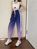 cheap -Women's Basic Daily Harem Pants Letter Breathable Purple S M L