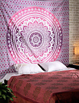 cheap -Wall Tapestry Art Decor Blanket Curtain Picnic Tablecloth Hanging Home Bedroom Living Room Dorm Decoration Polyester Purple Pink Mandala View