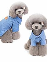 cheap -vivid dust coat colorful denim jacket for dog (blue)