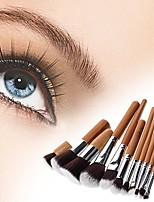 cheap -11pcs pro makeup brush brushes cosmetic powder tool kit set with bag mt52