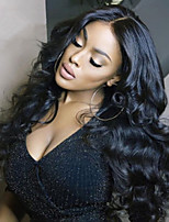 cheap -Synthetic Wig Body Wave Middle Part Wig Very Long Black Synthetic Hair Women's Fashionable Design Middle Part Fluffy Black