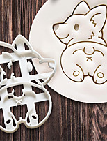 cheap -Cookie Cutters Mold Cute Corgi Dog Shaped Biscuit Baking Tool Kitchenware Bakeware DIY Tool for Kids Hand Mold