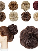 cheap -messy hair bun extensions synthetic updo chignons donut elastic bride bun ponytail scrunchy hairpiece wig accessory for women 1 piece 6# brown-medium