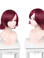 cheap -Cosplay Cosplay Cosplay Wigs Women's Side bangs 35 inch Heat Resistant Fiber Matte Burgundy Adults' Anime Wig
