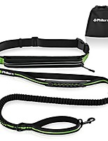 "cheap -hands free dog leash for running, jogging | reflective stitching, adjustable waist belt(24""-47""), phone pouch, shock absorbing dual handle bungee(47""-67"") for up to 150lbs large dog"